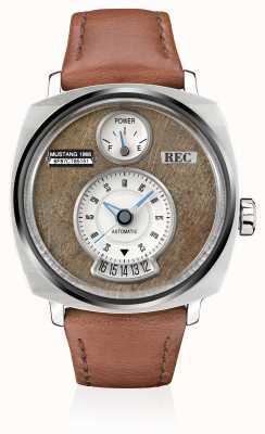 REC P51-02 мустанговый автоматический коричневый кожаный ремешок