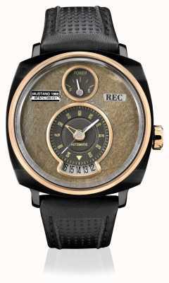 REC P51-03 mustang автоматический черный кожаный ремешок