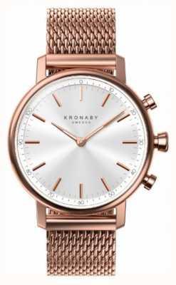 Kronaby 38mm carat bluetooth розовое золото с покрытием сетка smartwatch A1000-1400