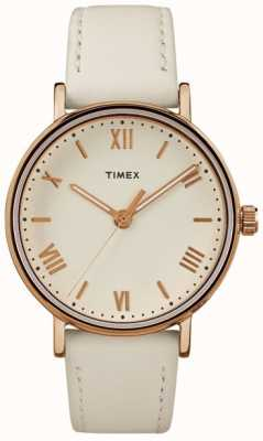 Timex Женская юбка 37мм кремовый набор розового золота тональный чехол TW2R28300