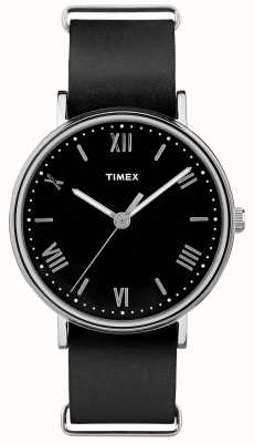 Timex Мужской южный 41мм черный циферблат черный ремешок TW2R28600
