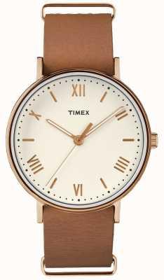 Timex Unisex southview 41mm крем циферблат розовый золотой корпус TW2R28800