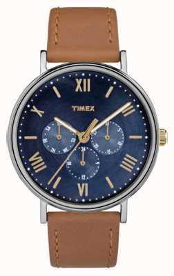 Timex Mens southview многофункциональный хронограф коричневый TW2R29100