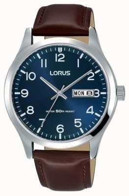 Lorus Мужской городской классический коричневый кожаный ремешок RXN49DX9