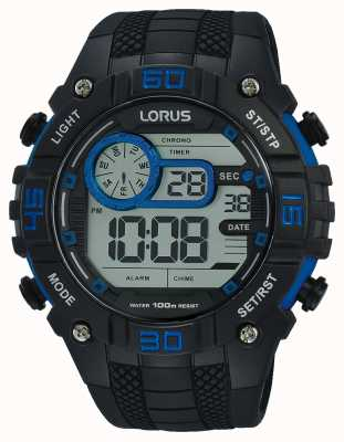 Lorus Мужские цифровые часы черно-синие R2353LX9