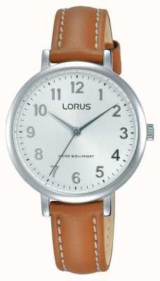 Lorus Женщины мягкий белый циферблат кожаный ремешок RG237MX7