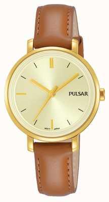 Pulsar Женская кожаный ремешок для шампанского PH8364X1