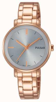 Pulsar Женский браслет из розового золота из нержавеющей стали серый циферблат PH8362X1