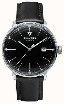 Junkers Черный кожаный ремешок черного цвета bauhaus 6070-2