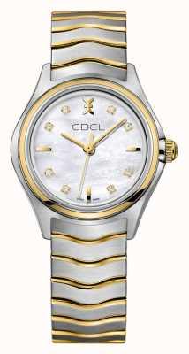 EBEL Волновые женские двухцветные часы 1216197