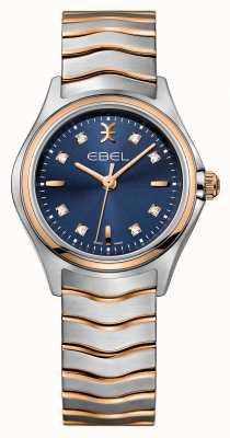 EBEL Волшебные бриллианты с бриллиантами из двухцветных синих циферблатов 1216379