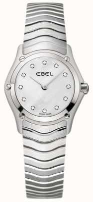 EBEL Классические женские бриллиантовые часы из нержавеющей стали 1215421