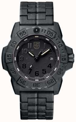 Luminox Военно-морской тюлень 3500 черный углеродный браслет XS.3502.BO