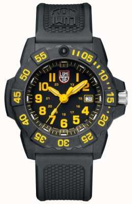 Luminox Морской печать 3500 черный жёлтый маркер черный черный ремешок XS.3505