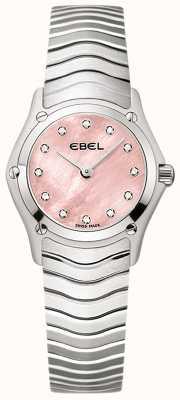 EBEL Классический набор из 12 бриллиантов из розового набора из нержавеющей стали 1216279