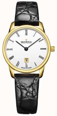 Dreyfuss Womans 1980 кожаный ремешок золотой чехол для часов DLS00136/01