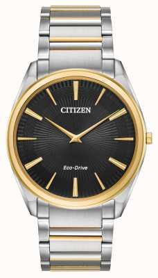 Citizen | мужская | стилет ультратонкий | двухцветный браслет | AR3074-54E