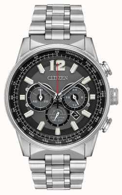 Citizen Нержавеющая сталь хронографа с электронным приводом CA4370-52E