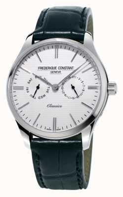 Frederique Constant Мужская классика черный кожаный ремешок / зеленый платок nato FC-259ST5B6