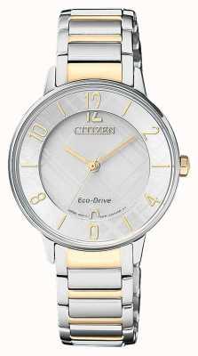 Citizen Женские часы с электронным управлением с двумя тональными часами EM0524-83A