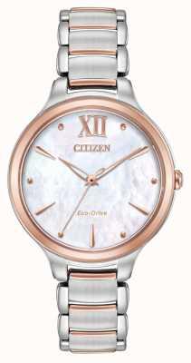 Citizen Женские часы с двумя тонами розового золота EM0556-87D