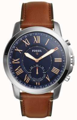 Fossil Q грант smartwatch светло-коричневая кожа FTW1122