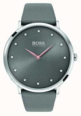 Hugo Boss Женские джинсовые часы серая кожа 1502413