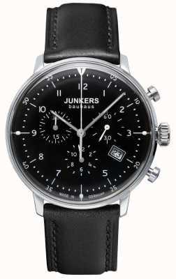 Junkers Черный ремешок из хронографа Mens bauhaus 6086-2