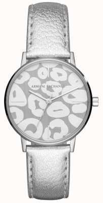 Armani Exchange Кожаный ремешок из нержавеющей стали для женщин Lola AX5539