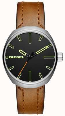 Diesel Мужской коричневый кожаный ремешок DZ1831
