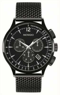 Movado Мужчины около хронографа с черным ионом 0606804