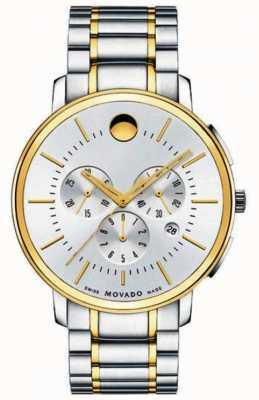 Movado Мужской тонкий классический хронограф два тона 0606887