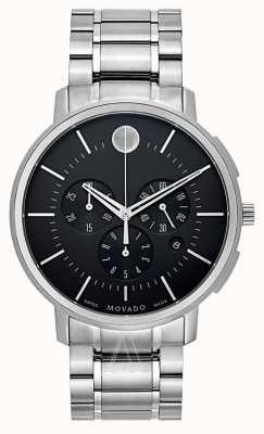 Movado Мужской тонкий классический хронограф черный 0606886