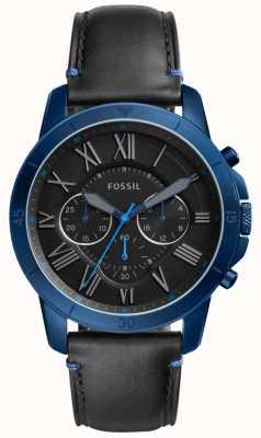 Fossil Мужчины предоставляют хронограф черный и синий FS5342