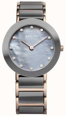Bering Женские керамические черное и розовое золото 11429-769