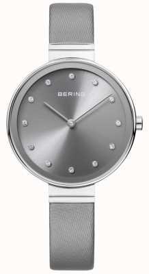 Bering Женская классическая тонкая сатиновая кожаная серая 12034-609