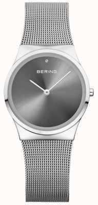 Bering Универсальный классический солнечный циферблат серебристый миланский 12130-009