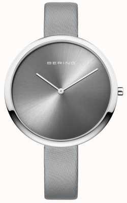 Bering Женская классическая атласная кожаный ремень sunray циферблат серебристый 12240-609