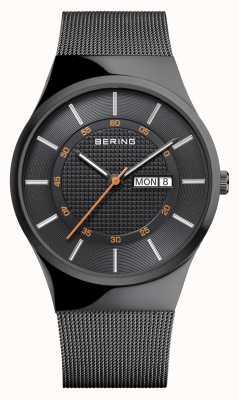 Bering Мужской классический многофункциональный черный сетчатый браслет 12939-222