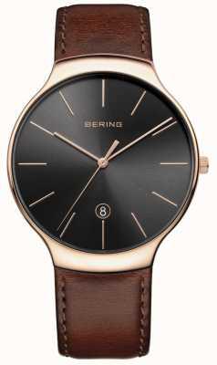 Bering Мужская классическая кожа коричневого цвета 13338-562