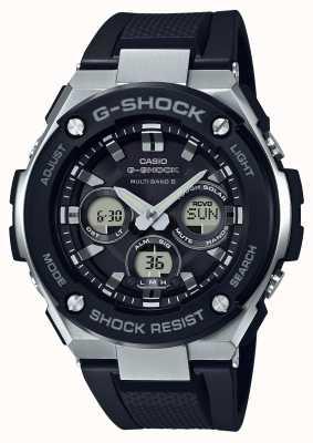 Casio g-shock g стальной серебристый будильник хронограф черный GST-W300-1AER