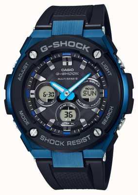 Casio Мужские g-shock g-steel жесткие солнечные часы синие GST-W300G-1A2ER