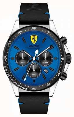 Scuderia Ferrari Мужские часы Pilot Blue Chronograph 0830388