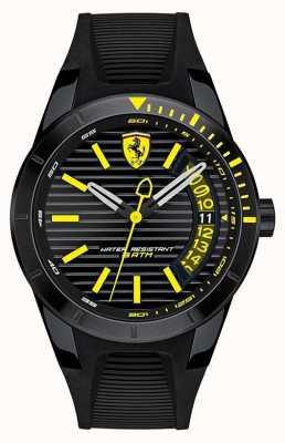 Scuderia Ferrari Мужские красные часы из черного силиконового ремешка 0830426