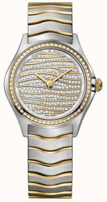 EBEL Женская волна 58-алмазный 18-каратный золотой вахта 1216285