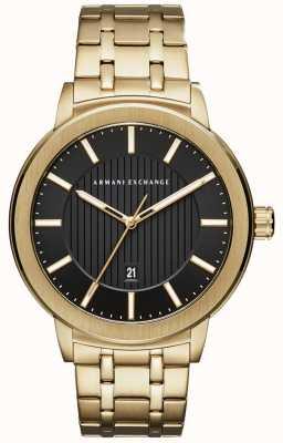 Armani Exchange Мужской золотой браслет из металла AX1456
