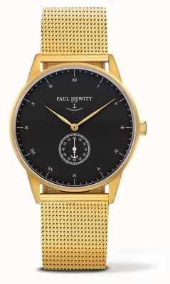 Paul Hewitt Мужские фирменные часы | золотой браслет из нержавеющей стали PH-M1-G-B-4M