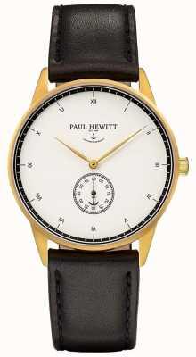 Paul Hewitt Чехол из черного кожаного подписи PH-M1-G-W-2M