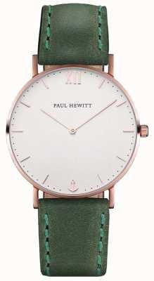 Paul Hewitt Юниодный матросский зеленый кожаный ремешок PH-SA-R-ST-W-12M
