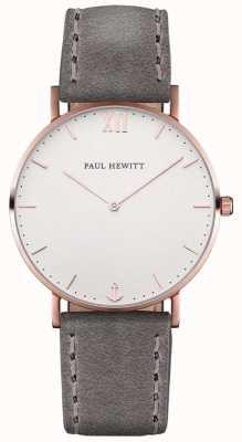 Paul Hewitt Мужской кожаный ремешок из серого моря PH-SA-R-ST-W-13M